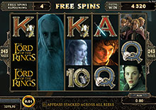 Lord of the Rings spilleautomat - gratis Spil bonus